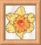 daffodil mini cross stitch kit