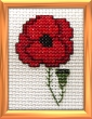 poppy mini cross stitch kit
