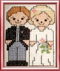 bride and groom cross stitch