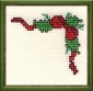 christmas holly cross stitch kit