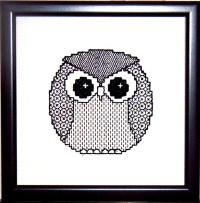 blackwork little owl