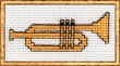 trumpet cross stitch