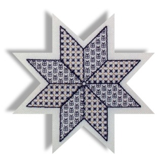 blackwork christmas star design