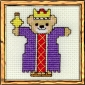 wise man teddy bear mini cross stitch kit